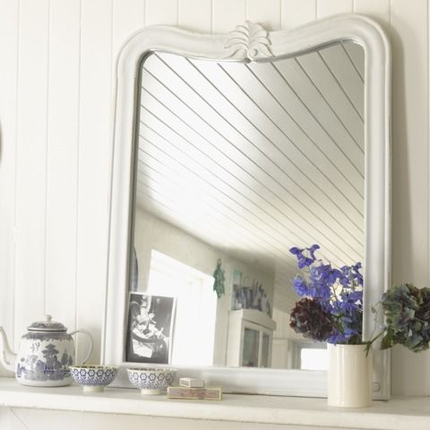 *Meet our Artie mirror hand-painted in a heritage off-white. | Loafhome
