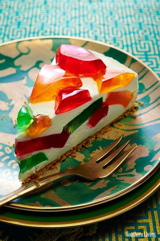 Pastel de cristal de colores de la Tía Laura | 7 recetas antiguas de gelatina que son sorpresivamente deliciosas
