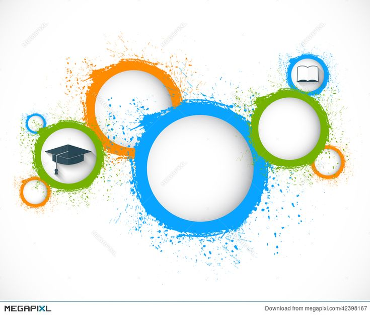 Abstract Grunge Circles. Education Background Illustration …