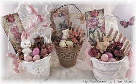 Trash to Treasure Art: Easter Peat Pot Baskets