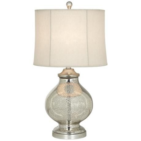 Kathy ireland manhattan modern tall silver glass table lamp style v2271