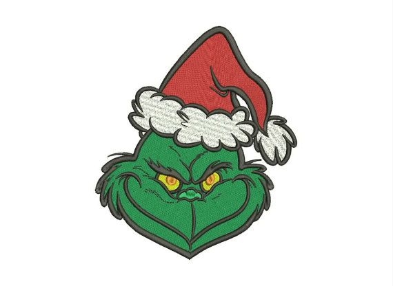 Christmas Grinch Embroidery Design Grinch Cartoon by moreusemb