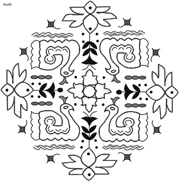 Festivals coloring pages pongal kolam coloring page for Pongal coloring pages