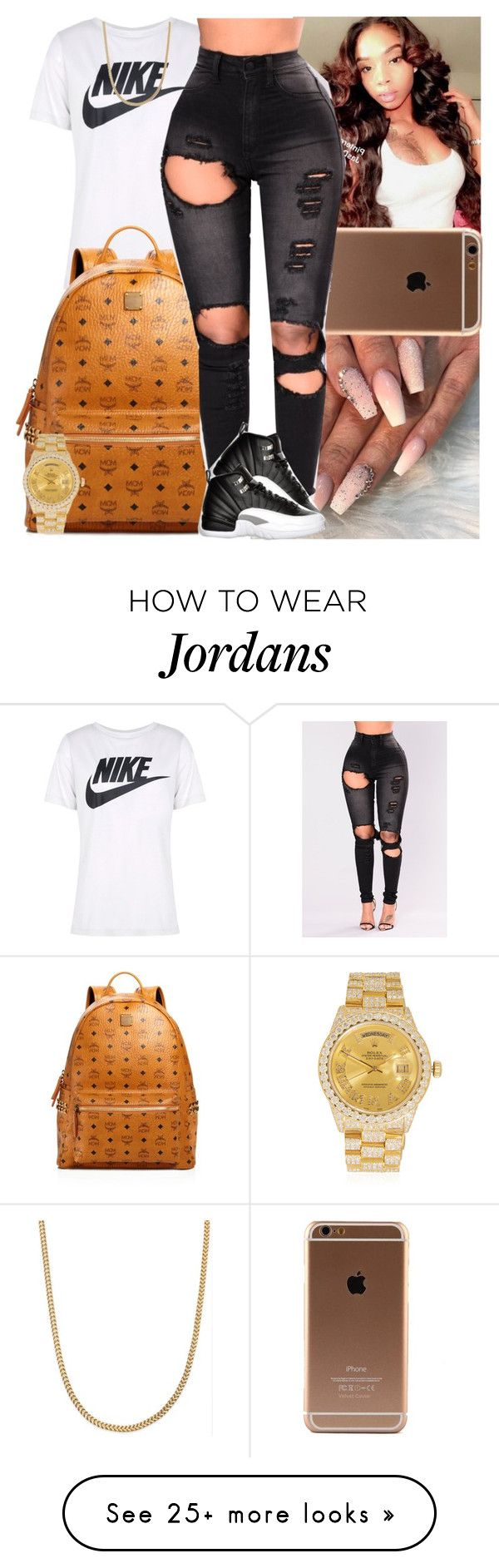 """""""Untitled #1535"""" by msixo on Polyvore featuring NIKE, MCM, Retrò and Rolex"""