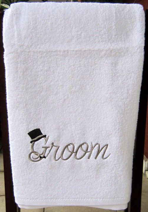 GROOM TOWEL SET 2 Pcs SetFace And Body By Letsdecorateonline, $57.20