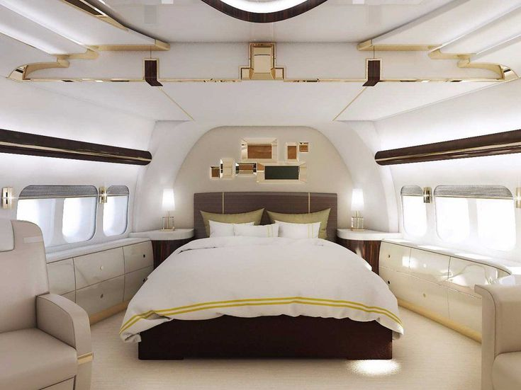 This 747 private jet is a palace in the sky | The Boeing 747-8 VIP is the longest and second-largest airliner ever built. Powered by a team of four General Electric GEnx engines, the plane can fly 8,000 nautical miles nonstop. Its incredible 4,786 sq. ft. of space features a stateroom, lounges, an office, and a massive dining room. #luxuryjet