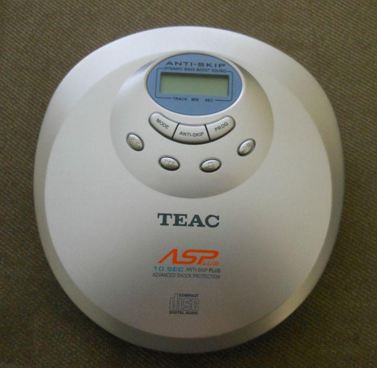 Teac Portable Personal CD Player Discman PD P219C   eBay