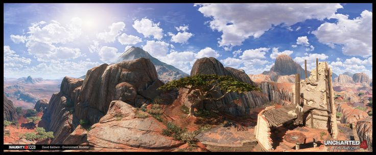 I was happy to be part of the team that helped bring this new driving gameplay area to life.  I was responsible for modeling some of the boulders and cliffs, two of the towers, and the several large chunks of terrain.  The rest of the props / plants were laid out by me using slightly modified versions from other locations in the game.  Overall modeling for the jeep level was a collaboration between myself and Anthony Vaccaro.  Shader / Texture work was done by Heather Cerlan, and Genesis…