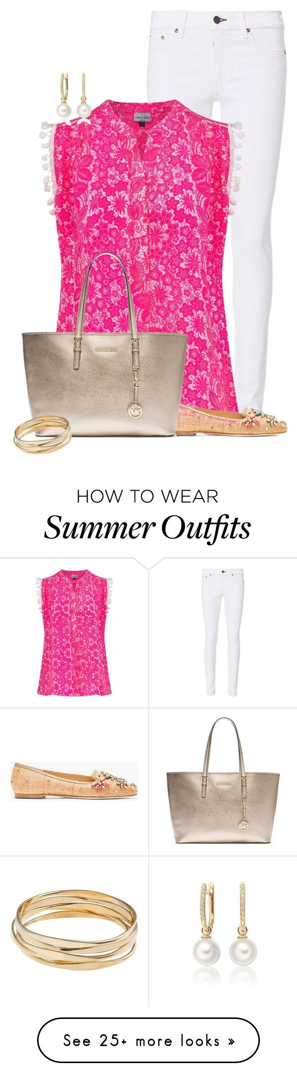"""""""Easy Summer Pom Style"""" by kginger on Polyvore featuring rag & bone, Mercy Delta, Dolce&Gabbana, MICHAEL Michael Kors and John Lewis"""
