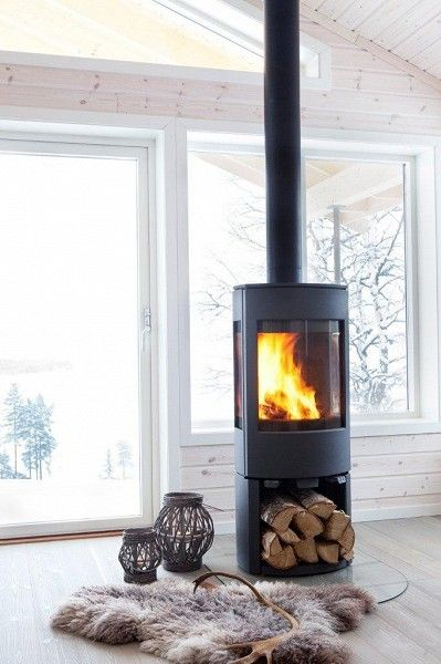 17 best ideas about contemporary freestanding stoves on for Modern wood fireplace