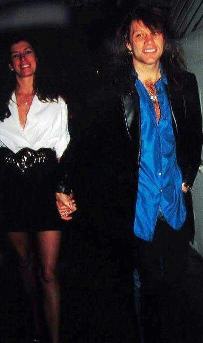 Jon Bon Jovi and Dorothea Hurley... so young!