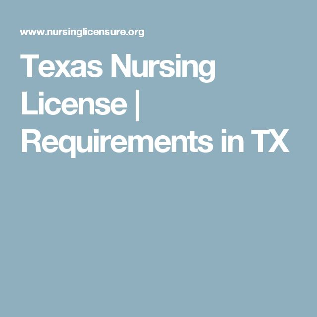 Texas Nursing License | Requirements in TX