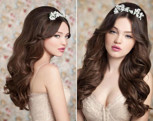 Cute Bridal Hairstyles for Long Hair  #bridalhairstyles #weddinghairstyles