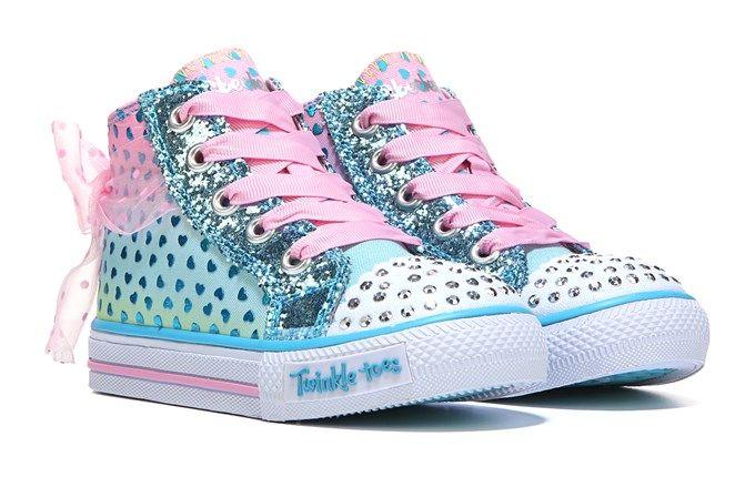 Skechers Kids' Twinkle Toes Pixie Bunch High Top Sneaker Toddler Shoe