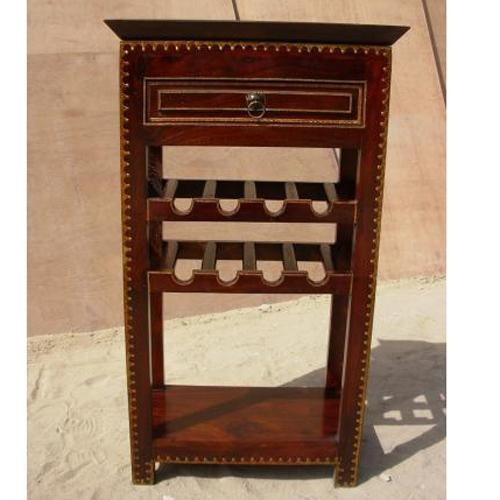Solid Wood Wine Liquor Rack Storage Cabinet Holder NEW