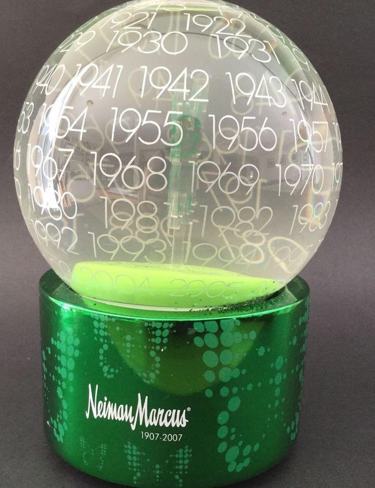 Dept 56 Neiman Marcus 100th Anniversary 1907-2007 Musical Snow Globe Watch Video in Collectables, Homeware, Kitchenware, Decorative Ornaments | eBay!
