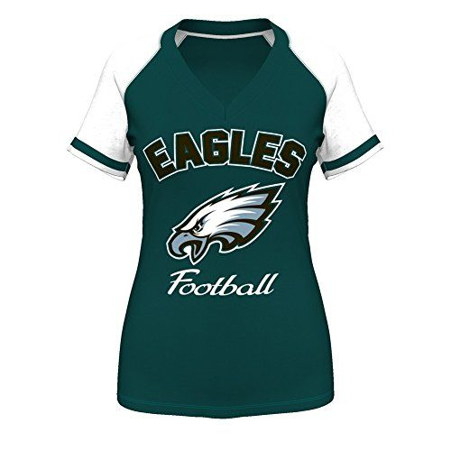 "Philadelphia Eagles Women's Majestic ""Go For Two IV"" V-neck T ..."