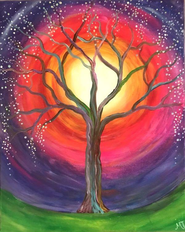 Easy Tree Painting Ideas Tree Painting Easy Tree Painting Tree Art