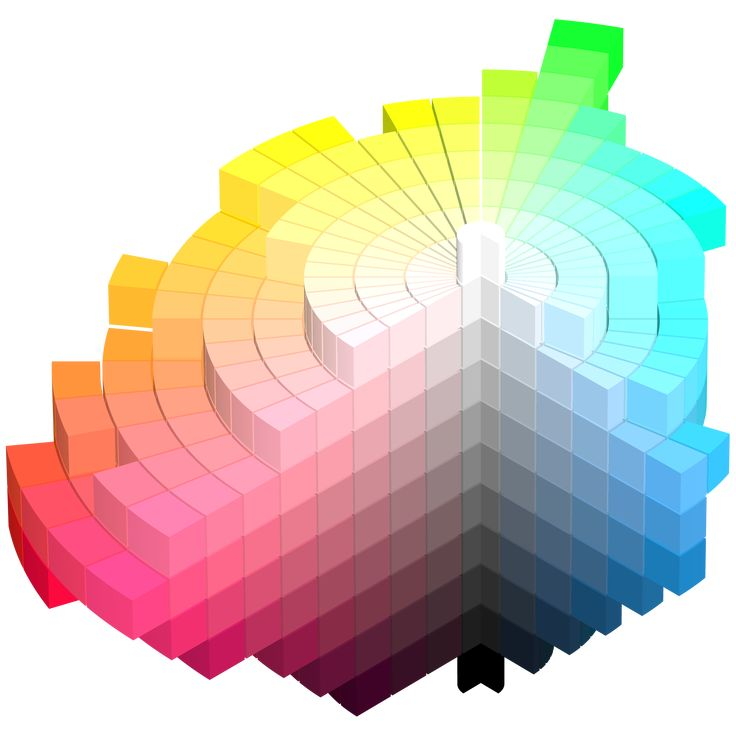 Munsell color system: has five principal hues:  red, yellow, green, blue, and purple, and five intermediate hues, yellow-red, green-yellow, blue-green, purple-blue, and red-purple.