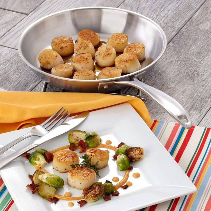 Scrumptious Scallops Recipe from our friends at American Kitchen. Restaurant quality recipe, easier to make than you'd think! Find it on the Recipes & Tips tab. #scallops #recipes