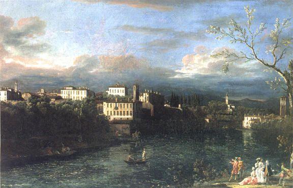 Bernardo Bellotto, Vaprio e Canonica verso nord-est, 1744. New York, Metropolitan Museum of Art