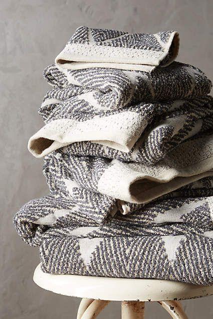 Woven Chevron Towel Collection - anthropologie.com