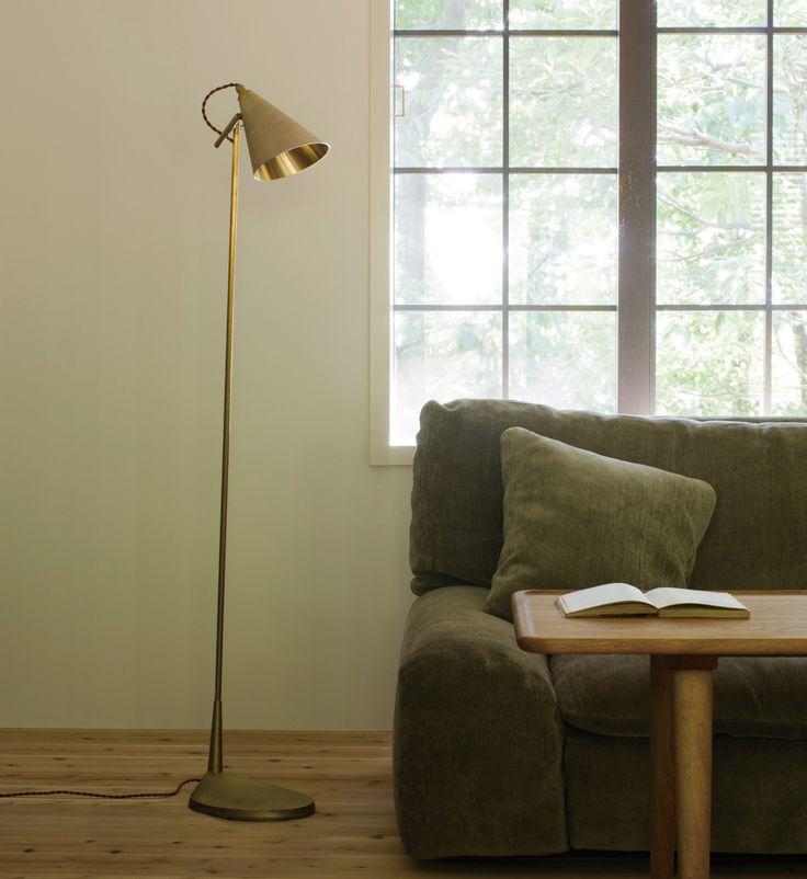 FUTAGAMI(フタガミ) 真鍮鋳肌のフロアランプ http://store.roundrobin.jp/?pid=86040352