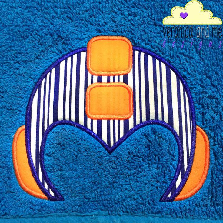 If the boy doesn't want a crown, then create him a hooded towel with this awesome helmet appliqué design.  It's fine, not everyone wants to be royalty, some people would rather be an astronaut and this design will look great on their hooded towel!