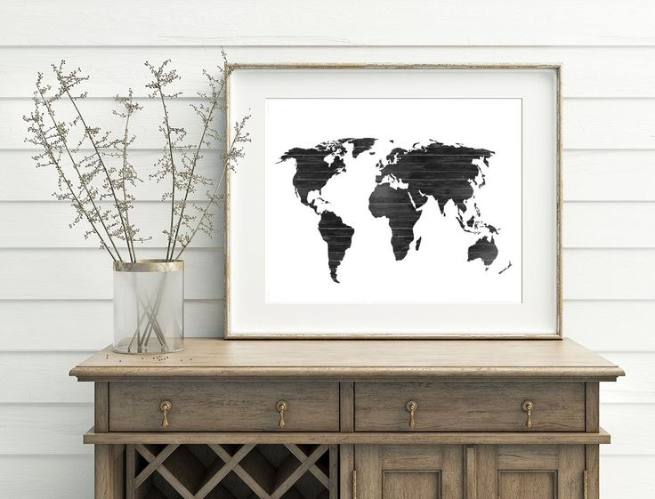 The 25 best world map silhouette ideas on pinterest world map black and white map wood world map printable home decor map decor painting world map wall art continent silhouette print by watercolorarthut on etsy gumiabroncs Gallery