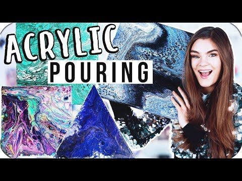 Acrylic Pouring Tutorial deutsch – Die coolste DIY Maltechnik ever! // I'mJette – YouTube – Doris o.
