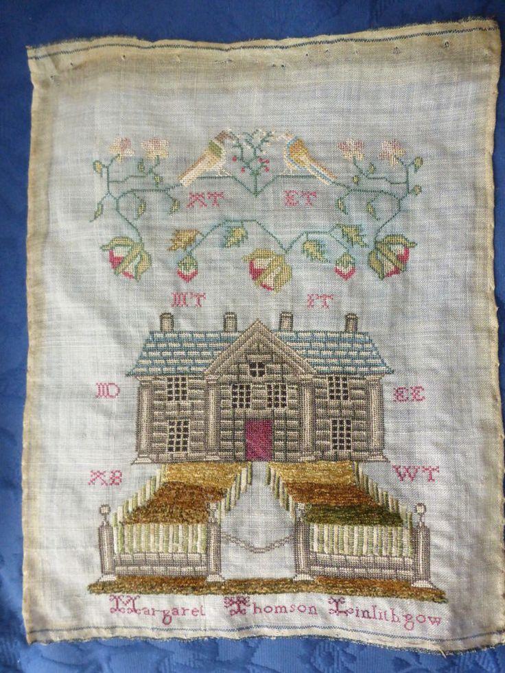 Fabulous 19th Century Sampler, large stately home