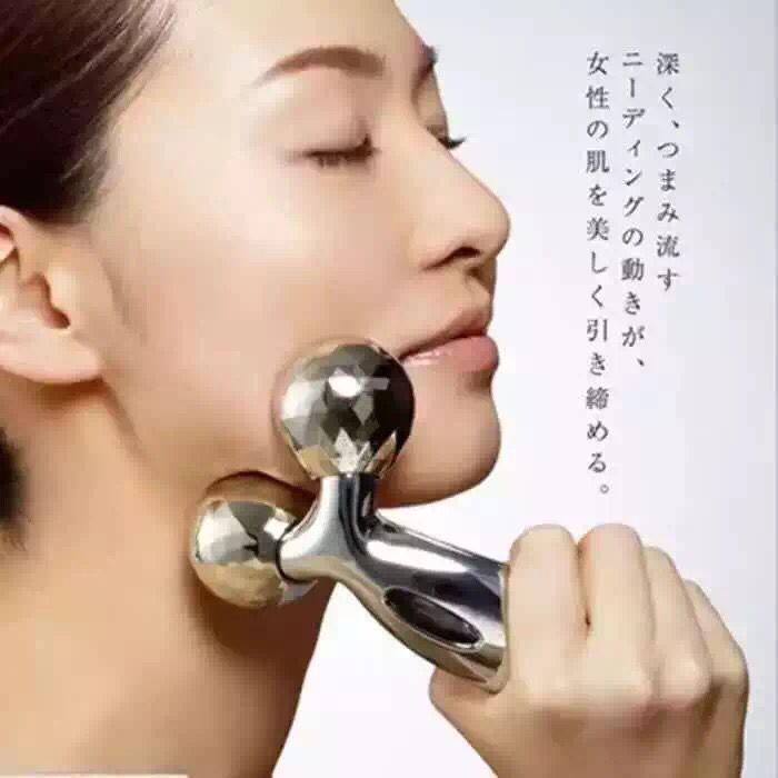 Wajah tipis artefak wajah tipis dari rol mesin V wajah massager tipis otot 3 d pijat wajah instrumen untuk dagu ganda bola
