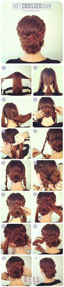 Crossed Bun Hair Tutorial
