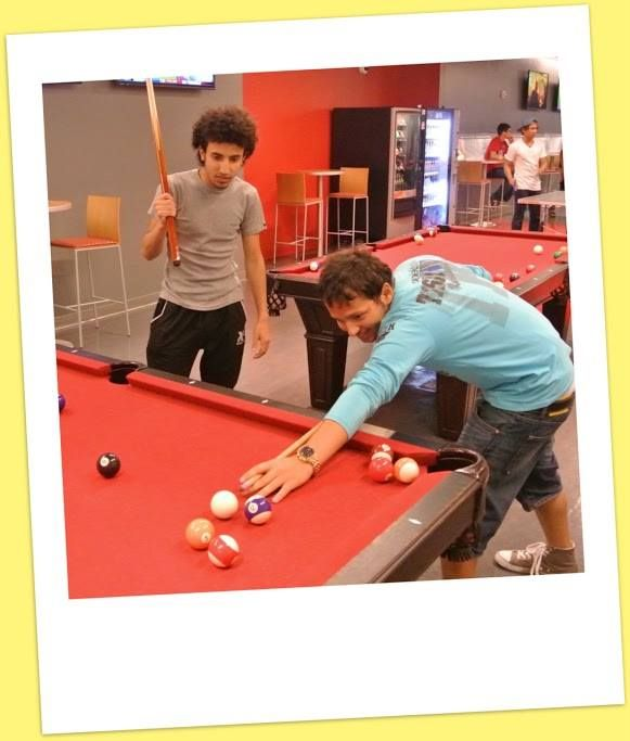 #ALI students play pool during the ALI trip to the Aztec Student Union!
