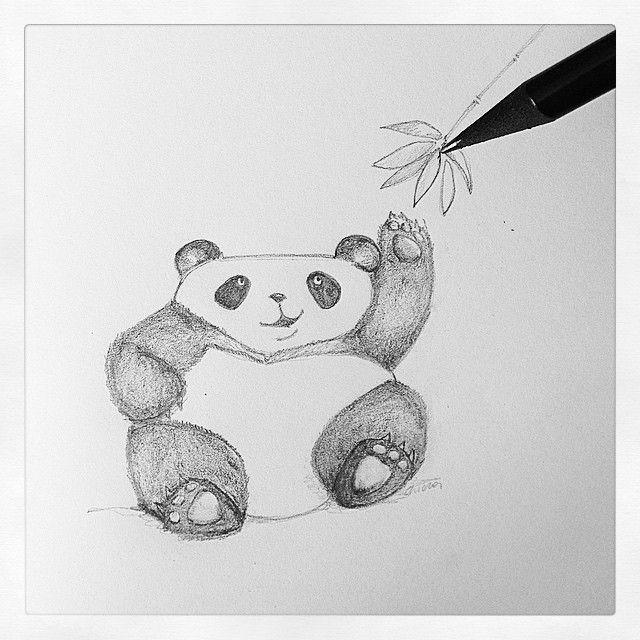 Panda  #draw #pencil #nature #art #artwork #me #TagsForLikes #pastel #picture #picoftheday #bw #bw_lover #bwstyleoftheday #insta_bw #instablackandwhite