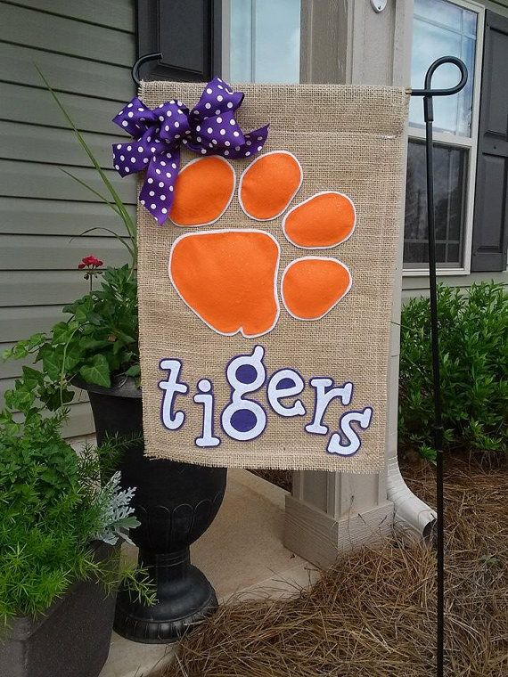 Clemson Tigers Garden Flag by ThingsWeLove2014 on Etsy, $20.00