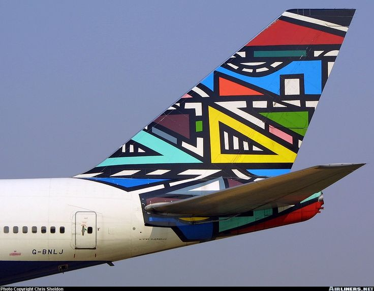 Ndebele tail fin. South African Airways