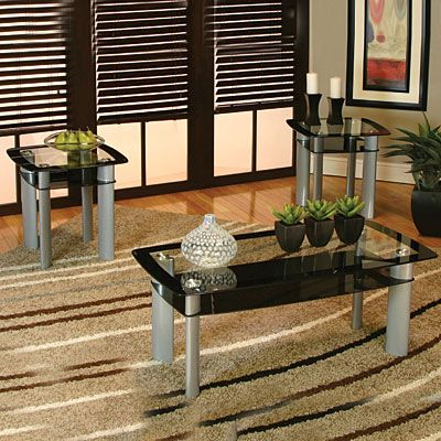 3Piece MetalGlass Coffee Table Set at Big LotsDeocrations
