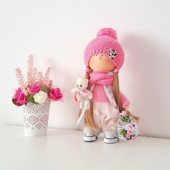 Jessie Doll Handmade Doll Fabric Doll by NICEDOLLSANDRABBITS