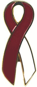 head and neck cancer ribbon pin for my husband