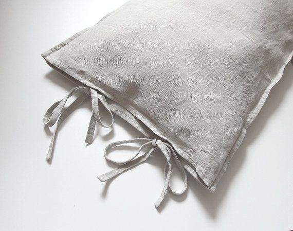 True coziness in the bedroom: pure linen pillow cover made of antique hand-woven fabric. Rare possibility to have unique piece for those loving natural European linen. Handmade by Gagano Home Studio.