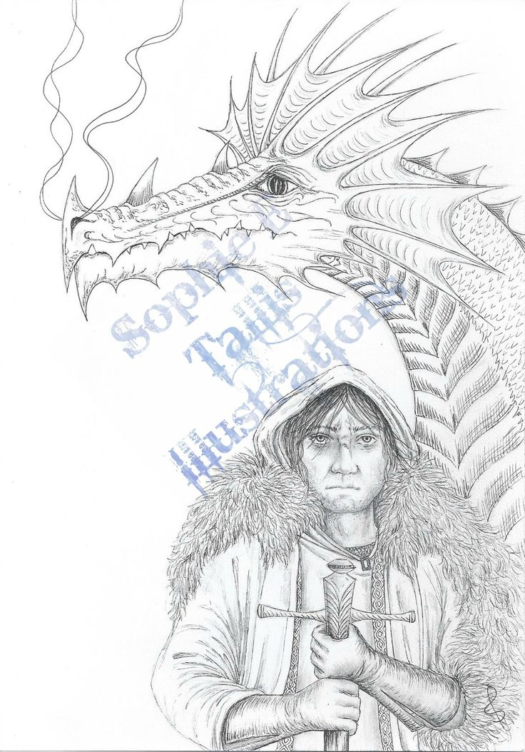 'Dragon Warrior'. One of the final illustrations I did for the AWB anthology, 'A World Of Their Own', due for publication in 2015.