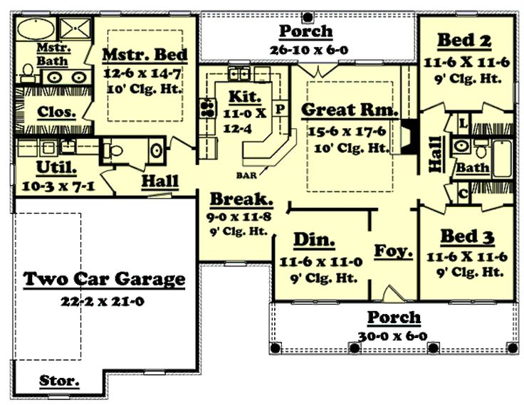 1900 Square Foot House Plans 430 best house plans images on pinterest | house floor plans