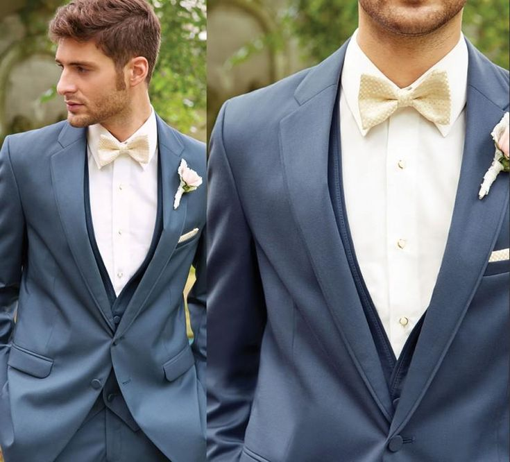 Blue Grey Suit Wedding | My Dress Tip