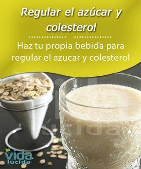 Haz tu propia bebida para regular el azúcar y el colesterol.