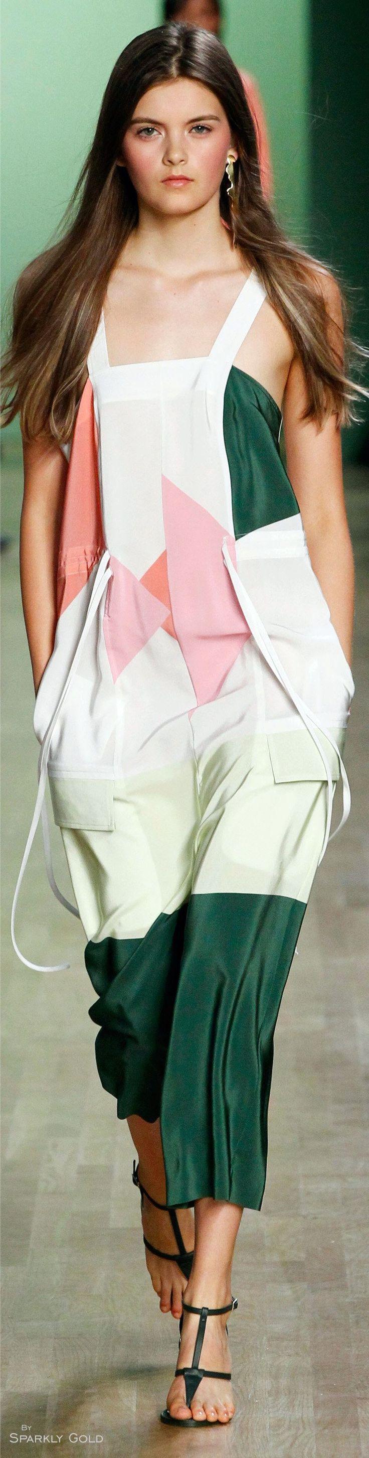 Tibi Spring 2016 RTW women fashion outfit clothing style apparel @roressclothes closet ideas