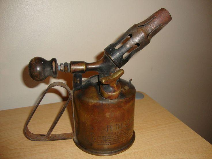 Vintage Brass Primus Paraffin Blow Torch No 855 In