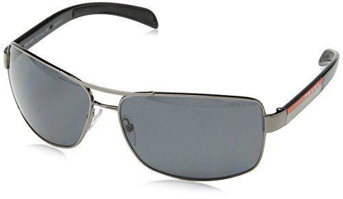 a74fe0569a Prada Sport Sunglasses-5AV 5Z1 Gunmetal (Polarized Gray Lens)-65mm Clout  Wearpolarized dark gunmetal.PRADA.Gender  Unisex.Made In ITALY.