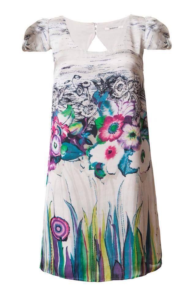 Maravilloso vestido VAN-DOS con estampado floral... disponible en Caprizzio!!!