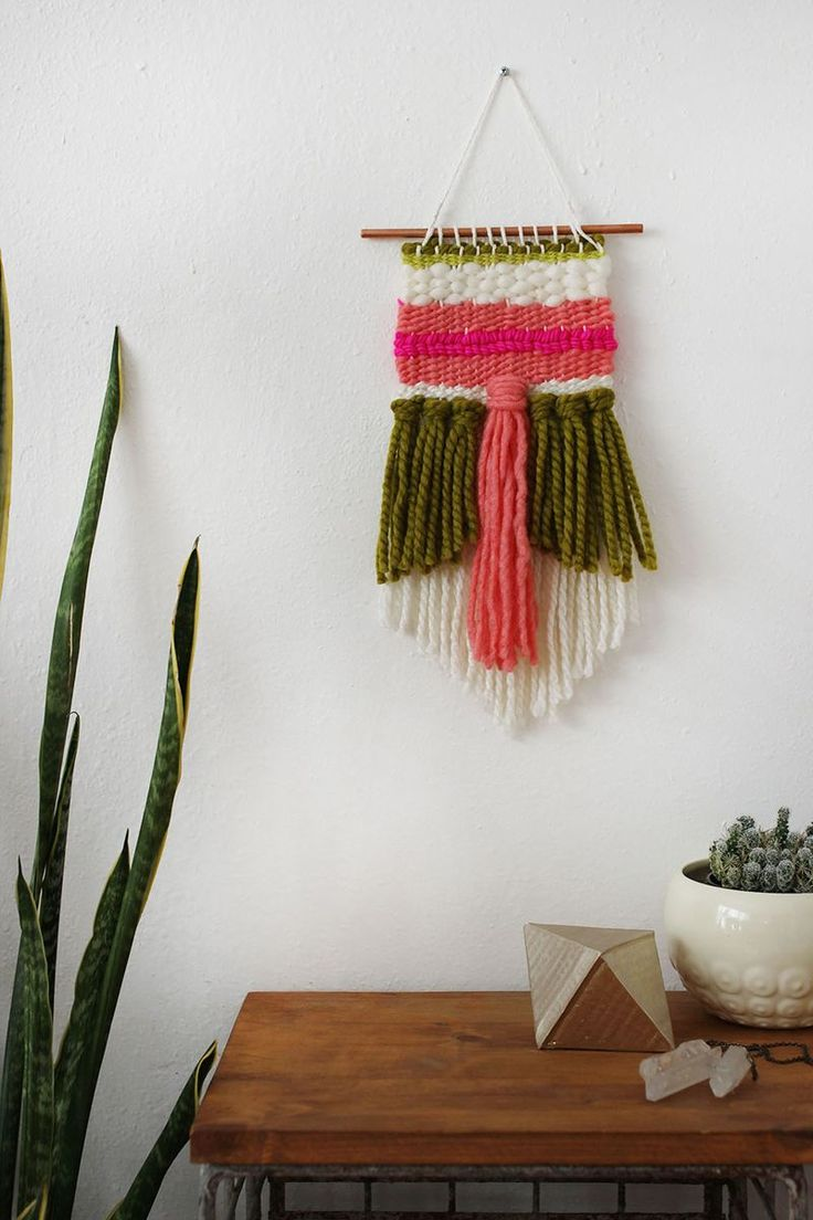 Tutorial de telar decorativo simple / Simple Weaving Tutorial